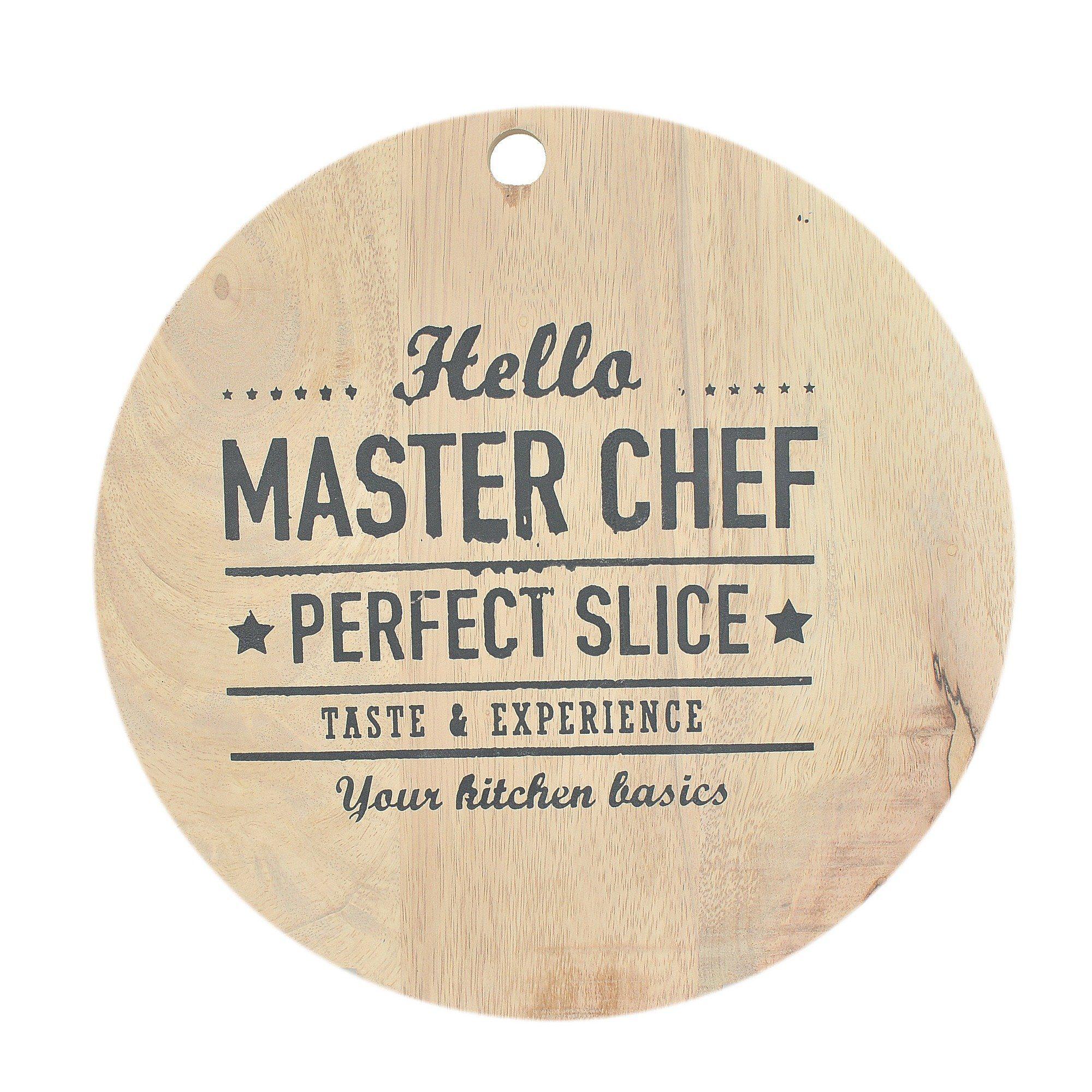 Schneidbrett bedruckt rund »Master Chef«
