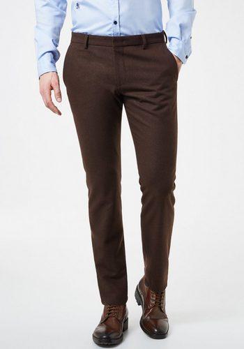 Herren Otto Kern Konfektionshose Konfektionierte Hose Tato – Tailored Fit braun | 04042637033446