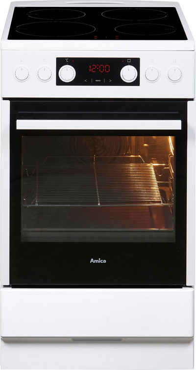 Amica Induktions-Standherd SHI 905 100 W, Steam Clean, RapidWarmUp-Funktion
