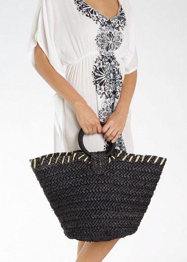 Strandtasche Strandtasche Lascana Raffiniertem Mit Henkel Lascana EqExYdar