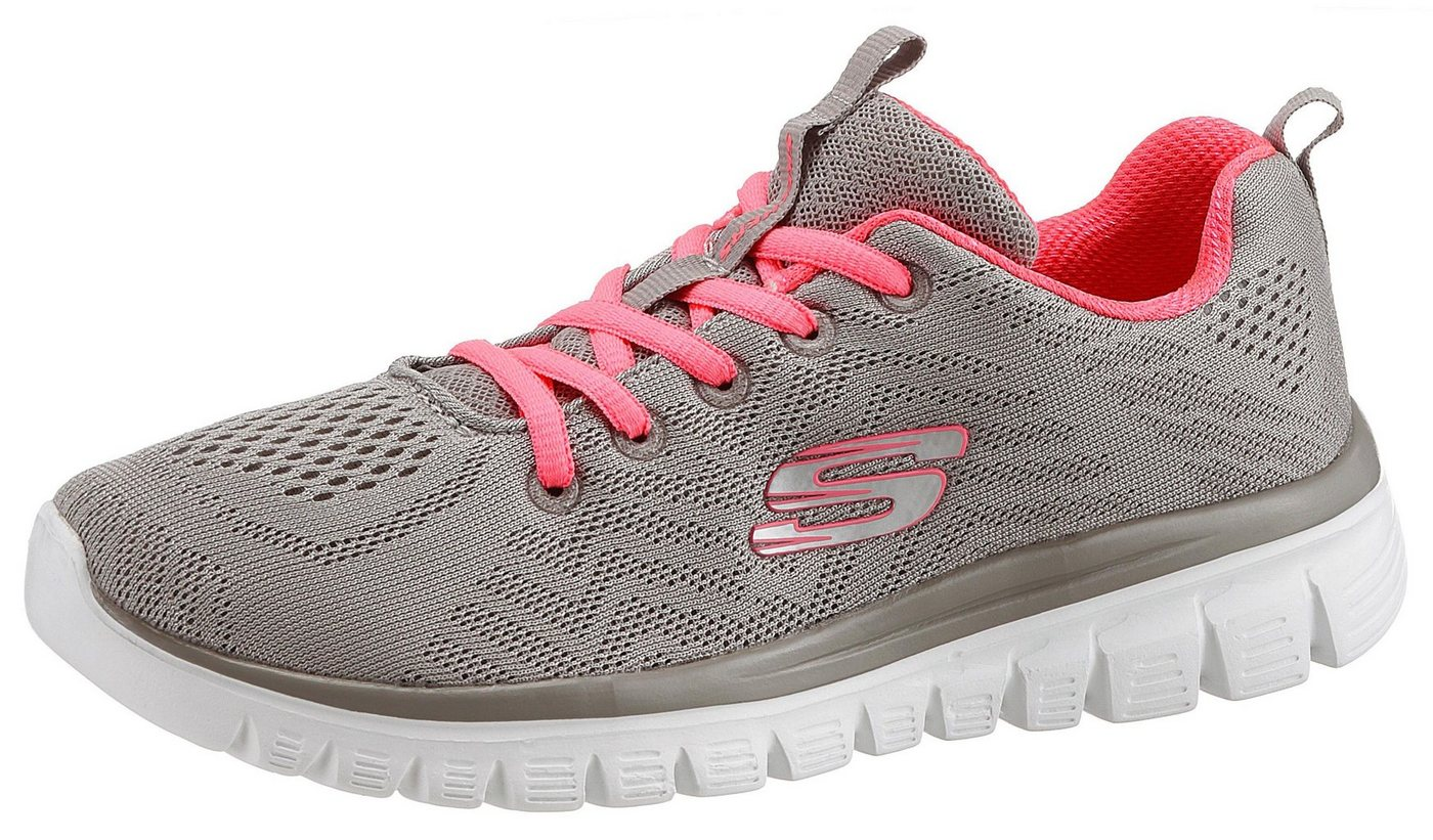 Damen Skechers Graceful – Get Connected Sneaker mit Dämpfung durch Memory Foam grau | 00190872883211