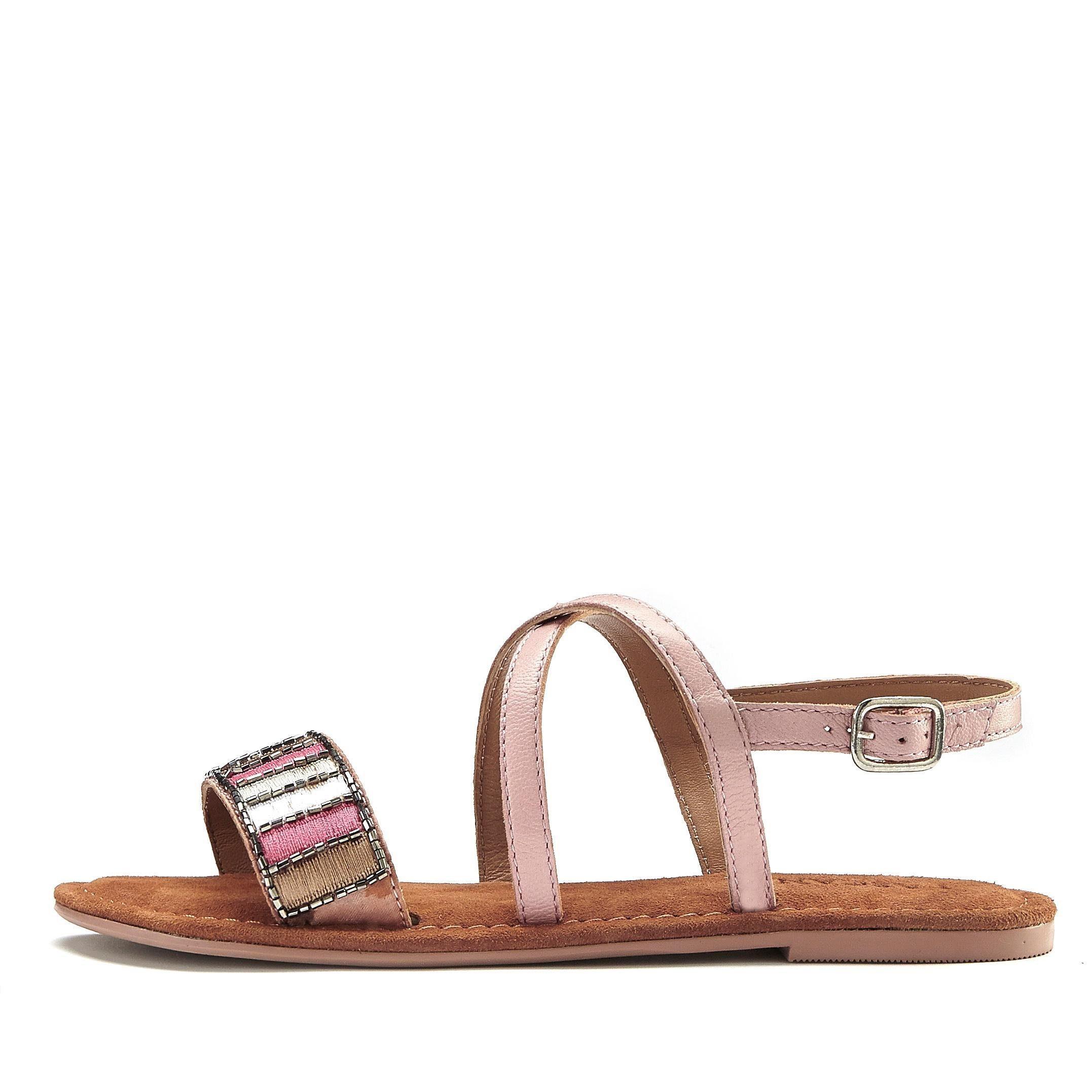 Sandale Band Lascana Aus Mit Leder Dekorativem xeQdrCBoW