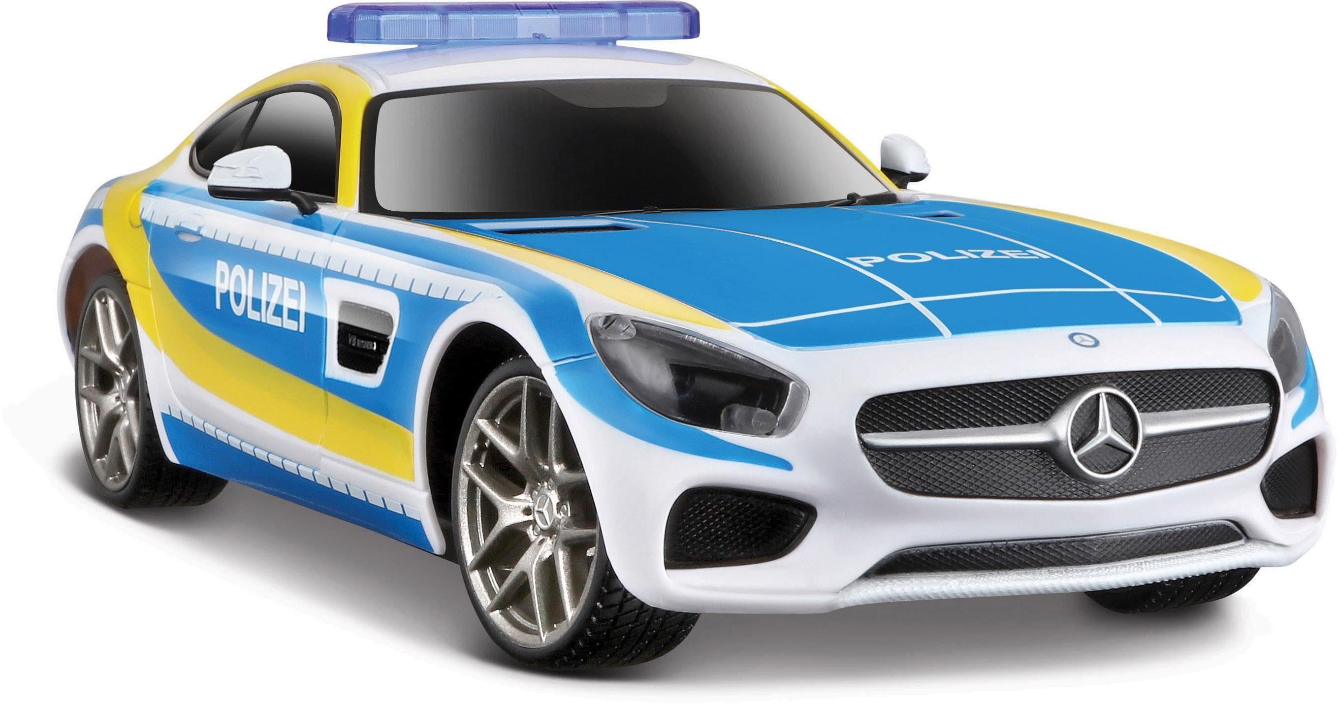 Maisto Tech® RC Komplettset mit Licht und Sound, »Mercedes AMG GT Polizei«