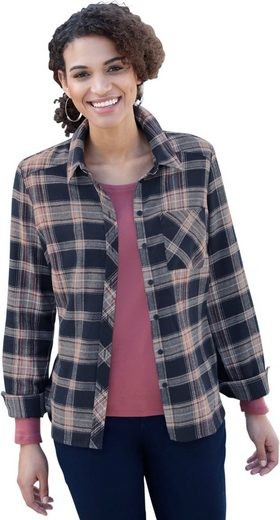 Casual Looks Flanell-Bluse im lässigem Karomuster