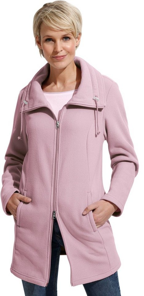 Damen Classic Basics Long-Fleecejacke mit Antipilling-Ausrüstung rosa | 08935278005407
