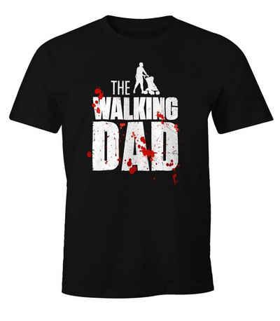 MoonWorks Print-Shirt »The Walking Dad Shirt Herren T-Shirt Fun Moonworks®« mit Print