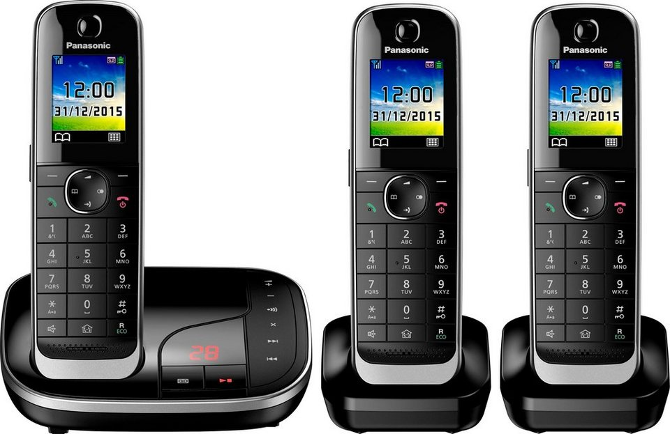 panasonic kx tgj323 trio schnurloses dect telefon. Black Bedroom Furniture Sets. Home Design Ideas