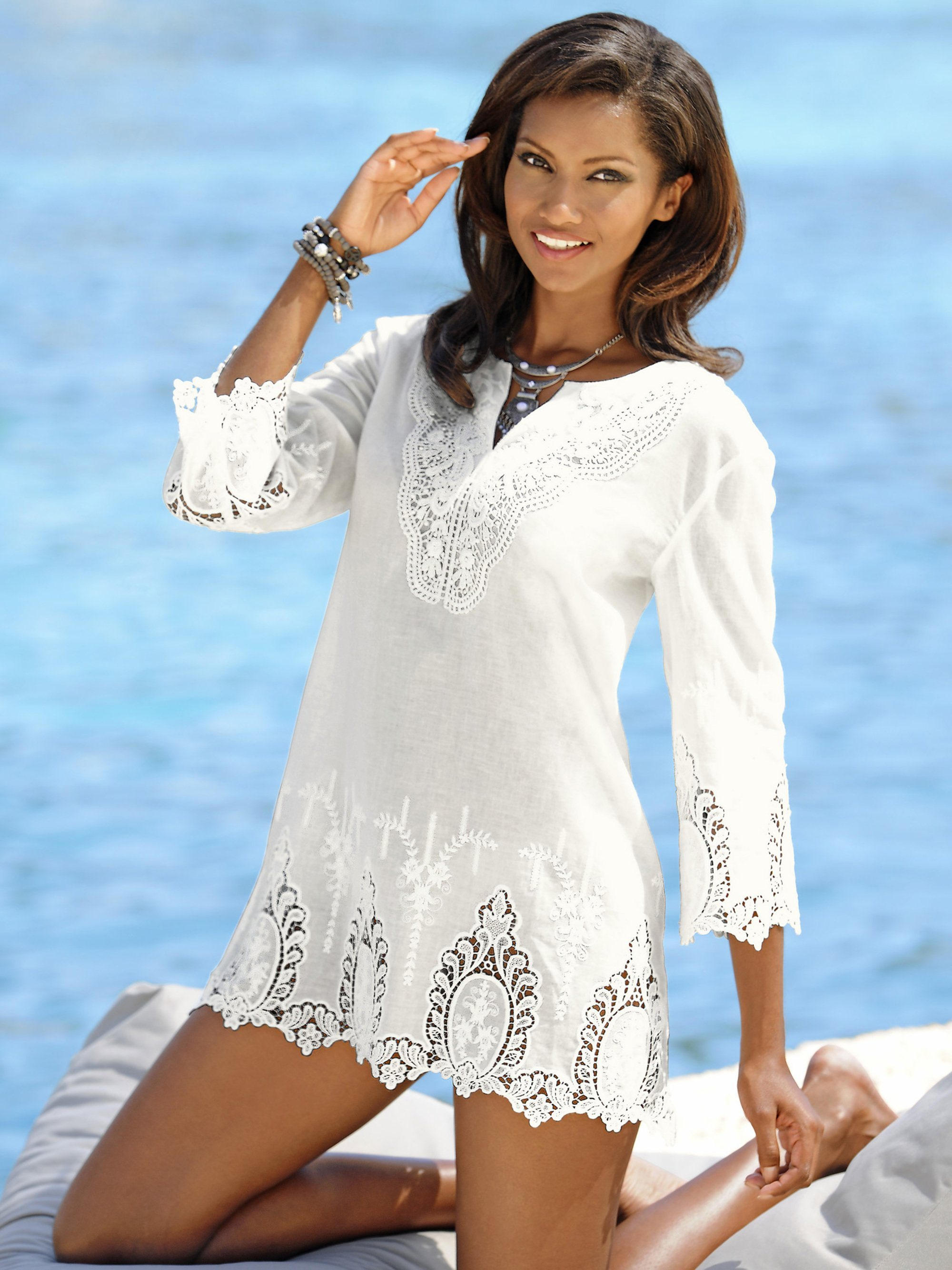 Alba Moda Tunika | Bekleidung > Tuniken > Sonstige Tuniken | Baumwolle | Alba Moda