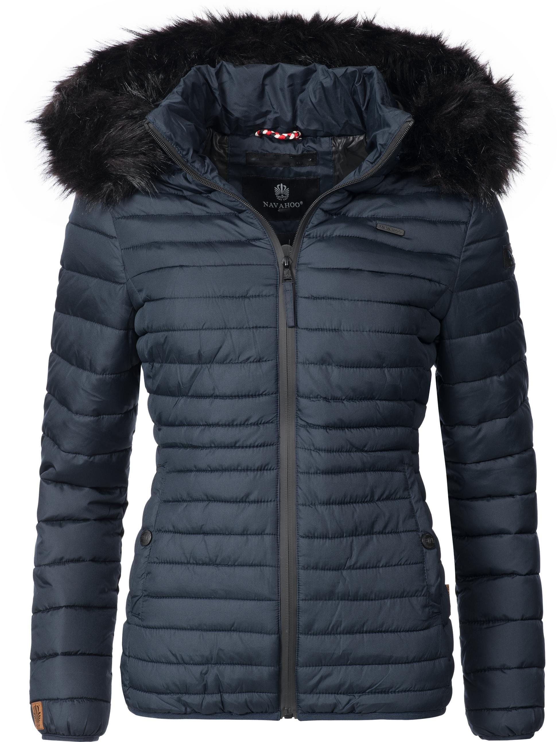 Navahoo Steppjacke »Arana« modische Damen Winterjacke mit großem Kunstfell online kaufen | OTTO