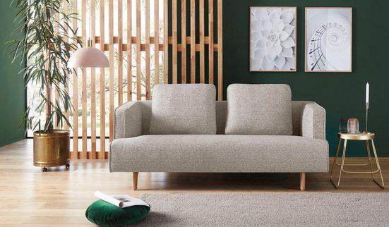 hülsta sofa 3-Sitzer »hs.440«, wahlweise in Stoff oder Leder, Fuß Eiche natur