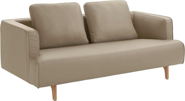Sofas - hülsta sofa 3 Sitzer »hs.440«, wahlweise in Stoff oder Leder, Fuß Eiche natur  - Onlineshop OTTO