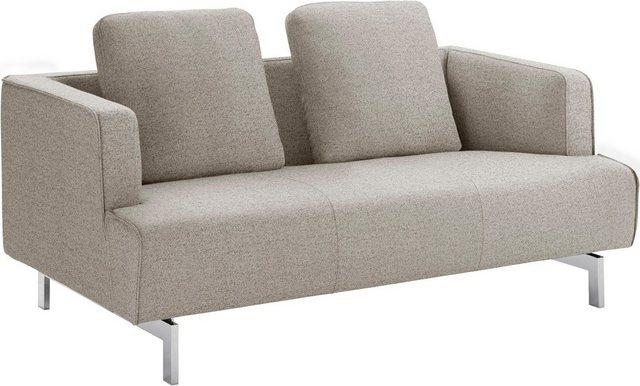 Sofas - hülsta sofa 2 Sitzer »hs.440«, wahlweise in Stoff oder Leder, Spangenfüße glanzchrom  - Onlineshop OTTO