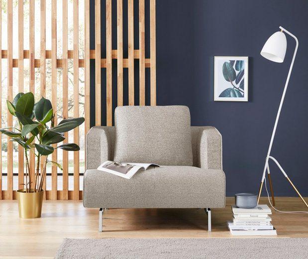 hülsta sofa Sessel »hs.440«, wahlweise in Stoff oder Leder, Spangenfüße glanzchrom