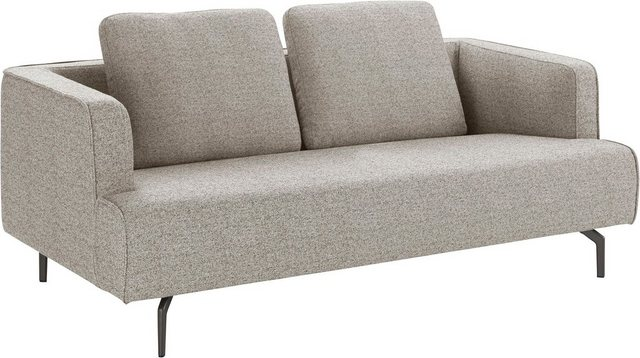 Sofas - hülsta sofa 3 Sitzer »hs.440«, wahlweise in Stoff oder Leder, Gussfüße umbrarau  - Onlineshop OTTO