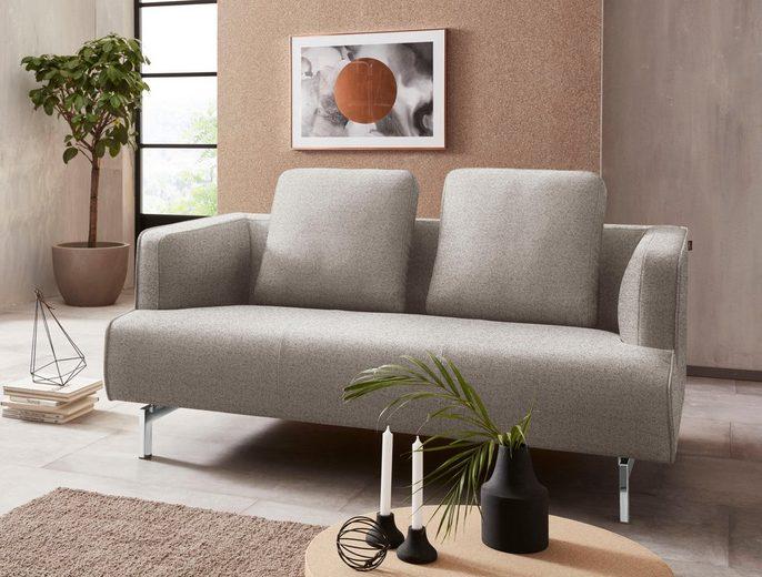 hülsta sofa 2-Sitzer »hs.440«, wahlweise in Stoff oder Leder, Spangenfüße glanzchrom