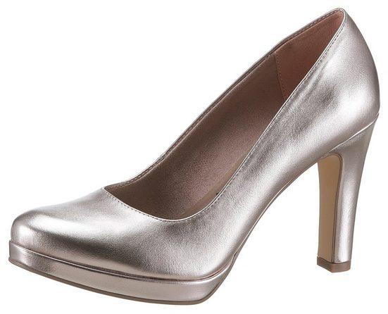 Tamaris High-Heel-Pumps im Metallic-Look