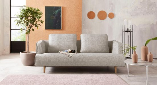 hülsta sofa 3,5-Sitzer »hs.440«, wahlweise in Stoff oder Leder, Fuß Eiche natur
