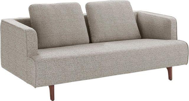 Sofas - hülsta sofa 3 Sitzer »hs.440«, wahlweise in Stoff oder Leder, Fuß Nussbaum  - Onlineshop OTTO