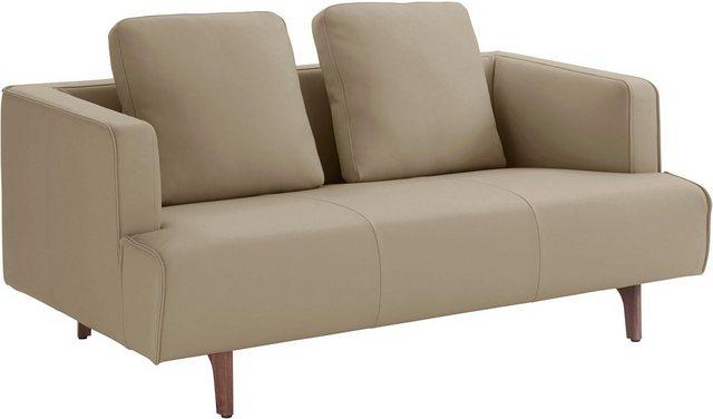 Sofas - hülsta sofa 2 Sitzer »hs.440«, wahlweise in Stoff oder Leder, Fuß Nussbaum  - Onlineshop OTTO