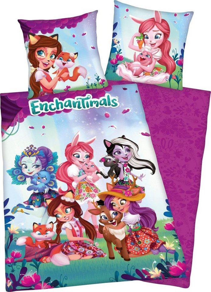 Kinderbettwäsche »Enchantimals«, mit niedlichen Motiv | Kinderzimmer > Textilien für Kinder > Kinderbettwäsche | Rosa | Baumwolle | OTTO