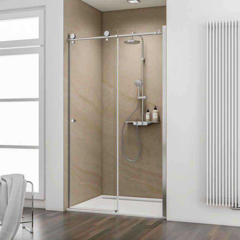 Schulte Dusch-Schiebetür »MasterClass«, 140x200 cm, Sicherheitsglas, (Spar-Set) für Nischen geeignet
