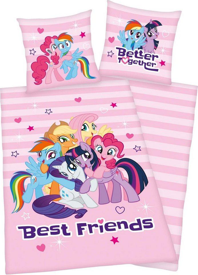 Kinderbettwäsche »Best Friends«, mit niedlichen Motiv | Kinderzimmer > Textilien für Kinder > Kinderbettwäsche | Rosa | Baumwolle | OTTO
