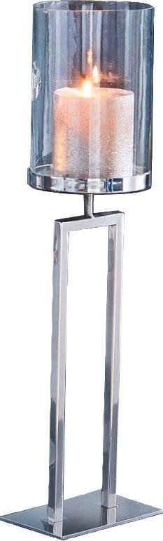 Kerzenhalter »New York«, Bodenwindlicht aus Stahl und Glas
