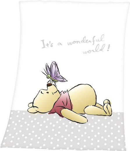 Babydecke »Winnie the Pooh«, Walt Disney, mit niedlichem Motiv