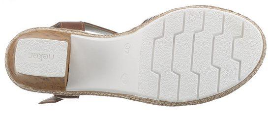 Oberfläche Strukturierter Sandalette Rieker Mit Mit Rieker Sandalette nwq86Y8X