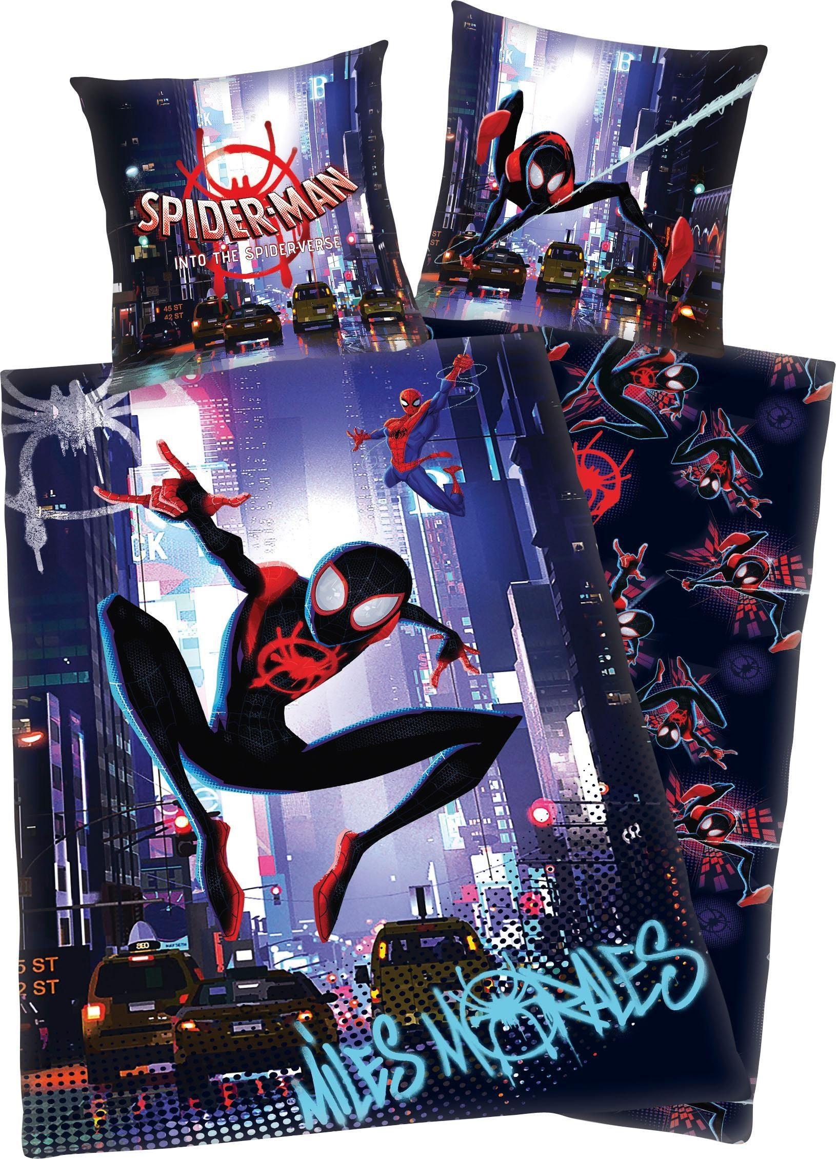 Kinderbettwäsche »Spiderman into the Spider Verse«, mit coolem Motiv