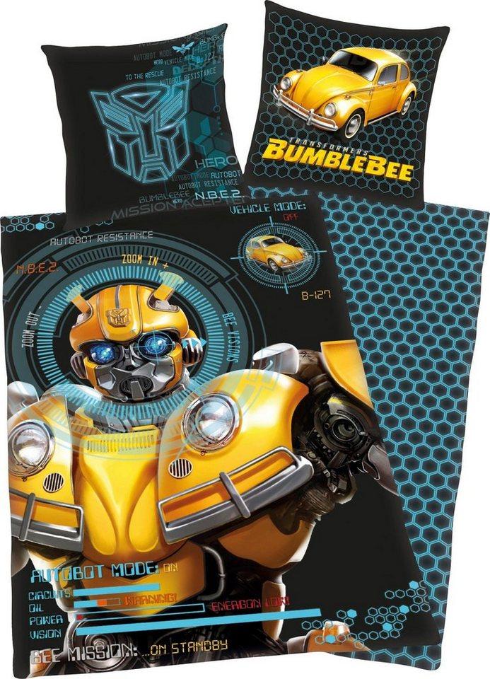 Kinderbettwäsche »Bumblebee«, Transformers, mit coolem Motiv | Kinderzimmer > Textilien für Kinder > Kinderbettwäsche | Schwarz | Baumwolle | Transformers
