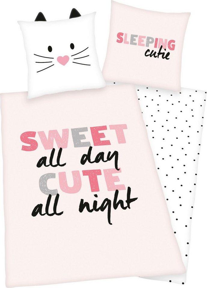 Kinderbettwasche Cute Girls Young Collection Mit Ohrchen Am Kissen Online Kaufen Otto
