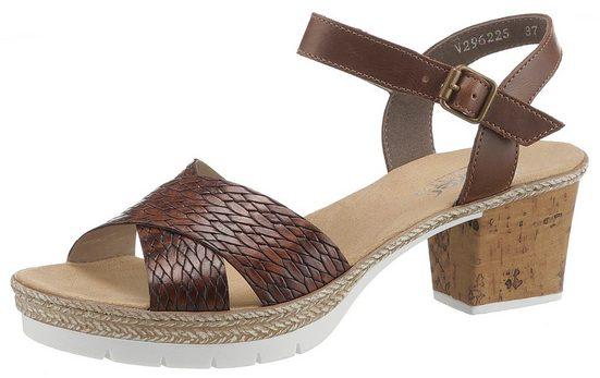 Rieker Sandalette mit strukturierter Oberfläche