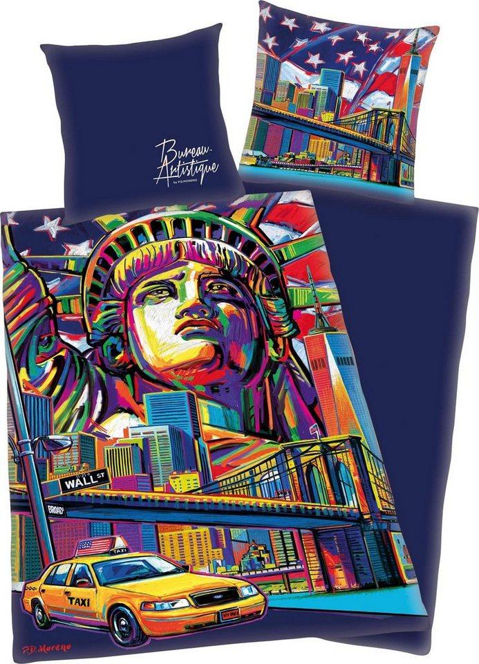 Jugendbettwäsche »New York«, mit New York Motiv | Kinderzimmer > Textilien für Kinder > Kinderbettwäsche | Bunt | Baumwolle | OTTO
