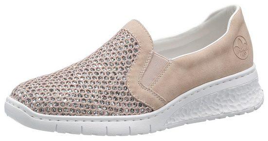 Rieker Slip-On Sneaker im Glitzerlook