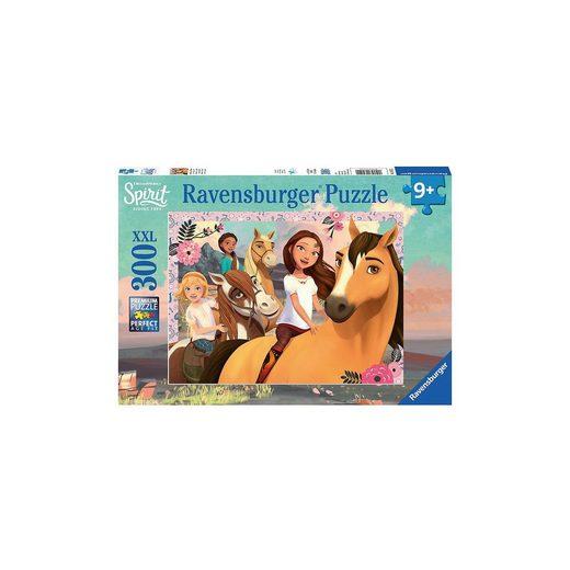Ravensburger Puzzle, 300 Teile XXL, 49x36 cm, Spirit Abenteuer auf Pferde