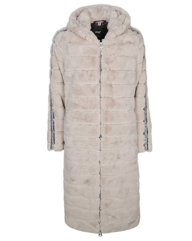 maze stylischer fake fur mantel mit kapuze laguna online. Black Bedroom Furniture Sets. Home Design Ideas