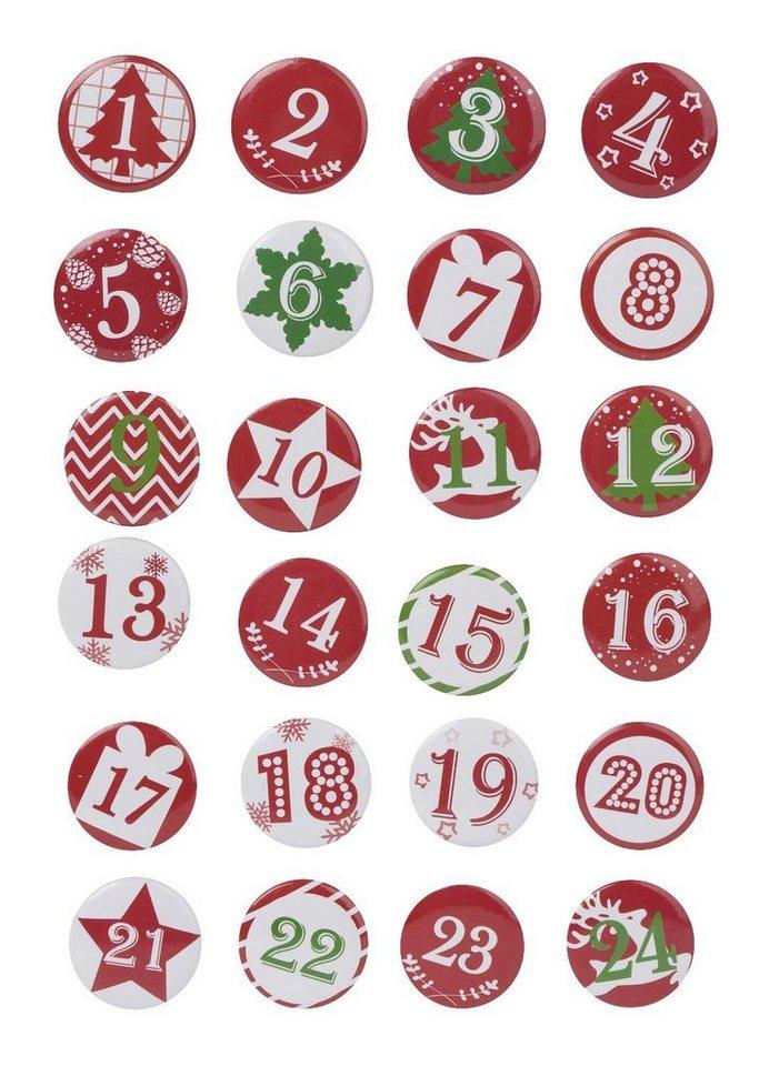 folia adventskalenderzahlen buttons mit nadel 24 st ck online kaufen otto. Black Bedroom Furniture Sets. Home Design Ideas