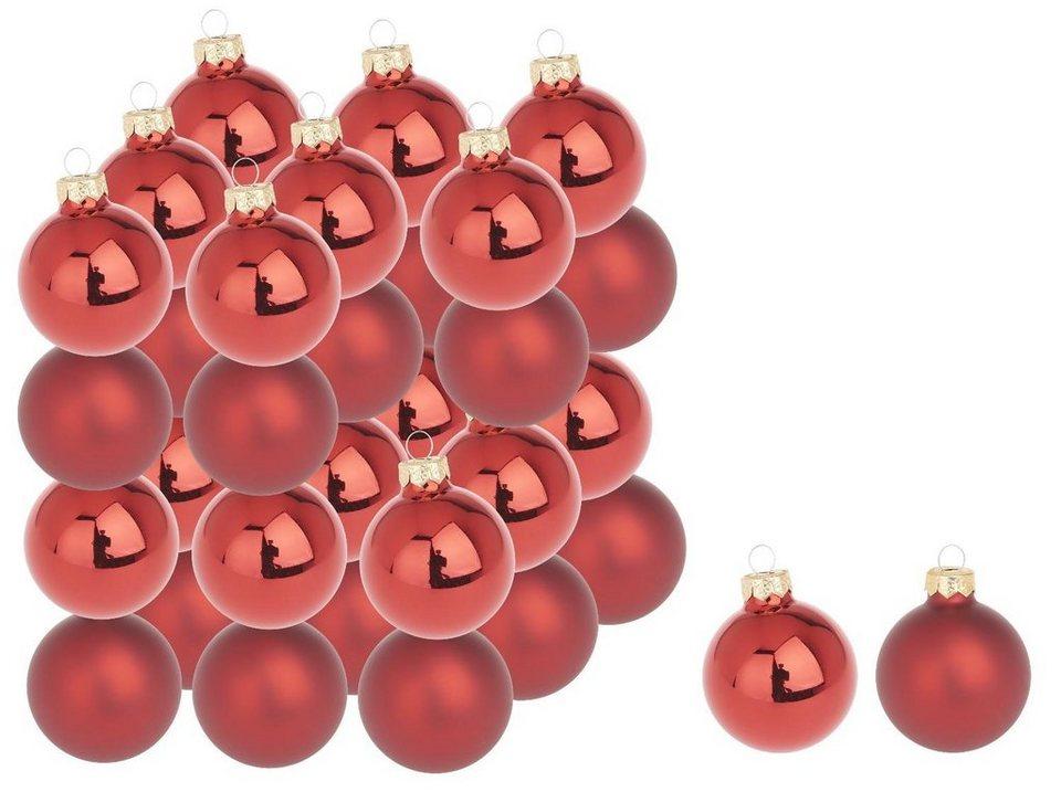weihnachtskugeln glas farbig 36 st ck kaufen otto. Black Bedroom Furniture Sets. Home Design Ideas