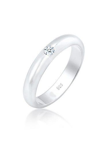 Diamore Diamantring »Solitär Verlobung Diamant (0.06 ct) 925er Silber«