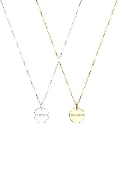 Elli Ketten-Set »Set: Partnerkette Friends Infinity Bi-Color 925 Silber« (Set, 2 tlg) | Schmuck > Halsketten > Partnerketten | Elli