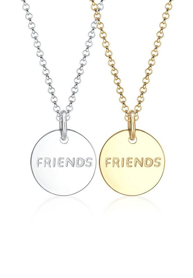 Elli Ketten-Set »Set: Partnerkette Friends Infinity Bi-Color 925 Silber« (Set, 2 tlg) | Schmuck > Halsketten > Partnerketten | Elli
