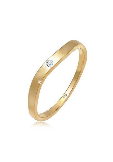 Diamore Diamantring »Verlobung Welle Diamant (0.02 ct) 585er Gelbgold«