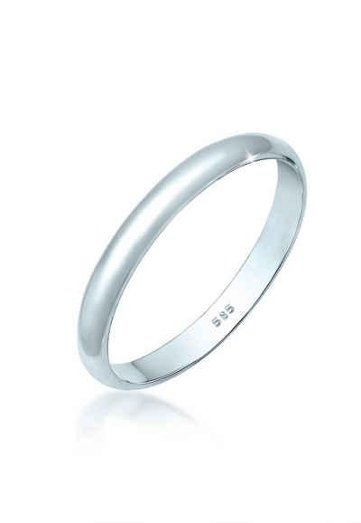 Elli Partnerring »Basic Bandring Hochzeit Trauring 585 Weißgold«