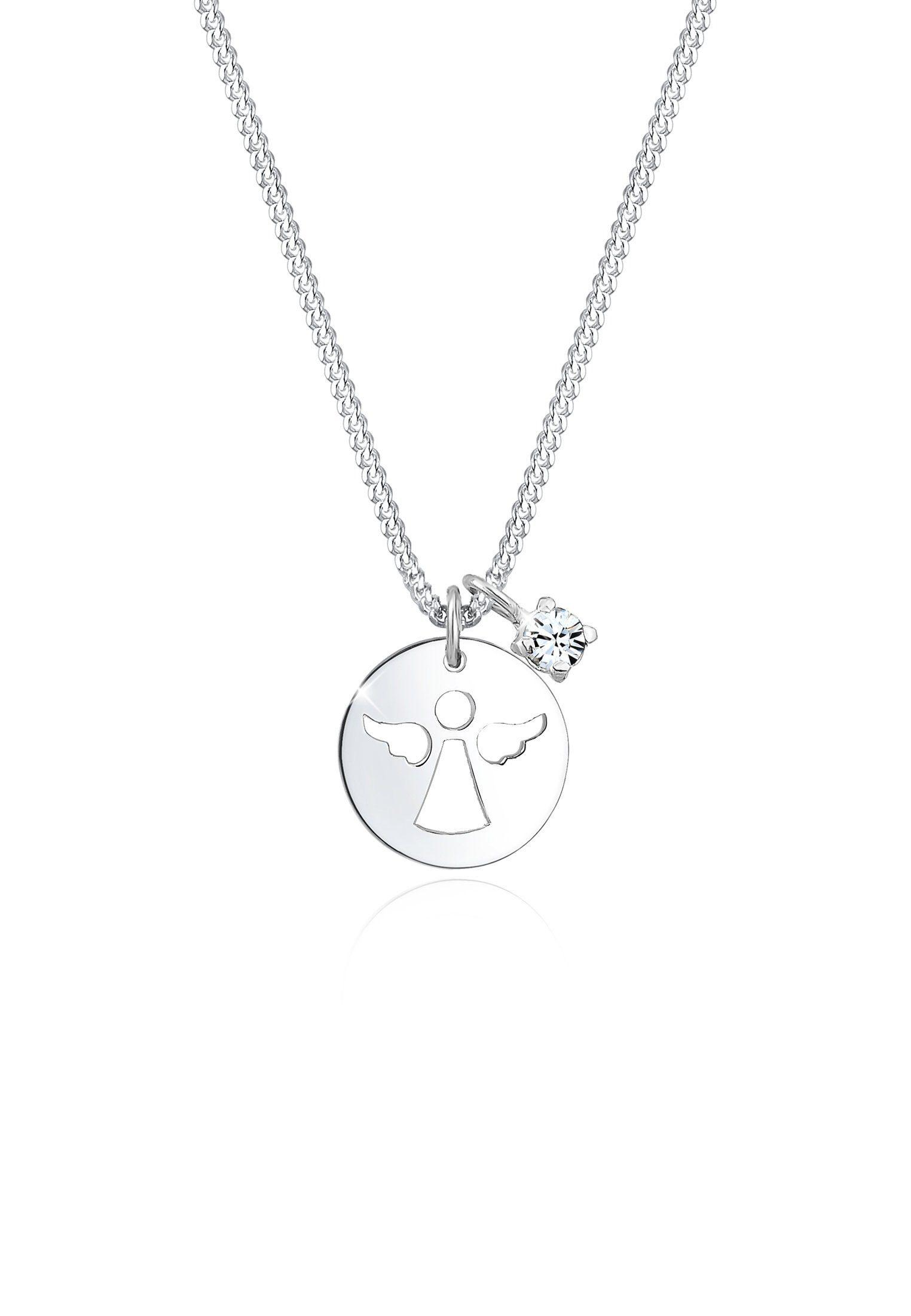 Elli Collierkettchen »Engel Plättchen Swarovski® Kristalle 925 Silber« online kaufen | OTTO