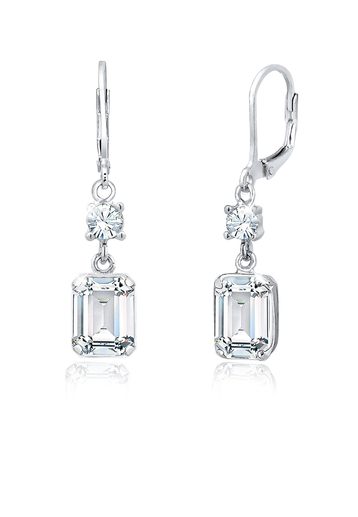 Elli Paar Ohrhänger »Hänger Geo Shapes Swarovski® Kristalle 925 Silber«