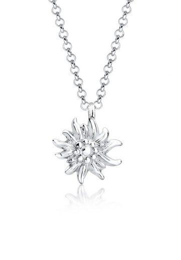 Elli Collierkettchen »Edelweiss Symbol Anhänger Wiesn Tracht 925 Silber«
