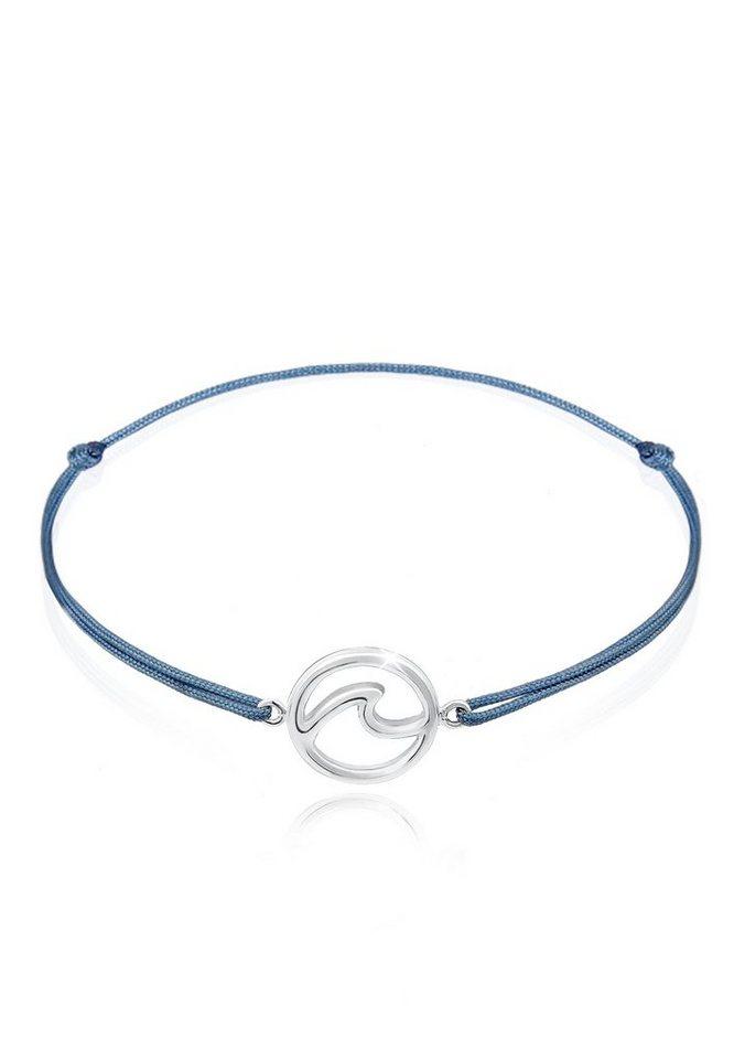 Elli Armband »Welle Strand Maritim Nylon Band Trend 925er Silber ... bcc5e15f38