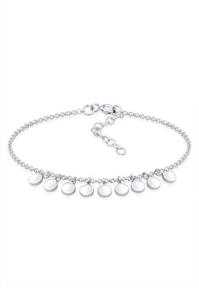 aa854aeff46d Elli Armband »Geo Kreis Plättchen Anhänger 925er Sterling Silber ...