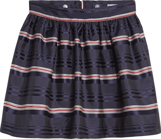 Tommy Hilfiger Rock »SIGNATURE SATIN STRIPE SKIRT«